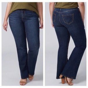 Lane Bryant Dark Wash Tighter Tummy Bootcut Jeans